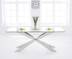 Jazz 200cm Glass Dining Table