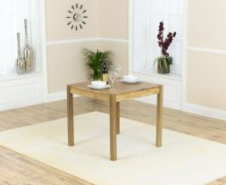 Promo 80cm Square Solid Oak Dining Table