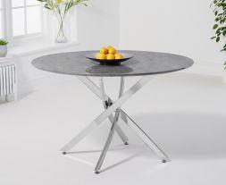 Clara Round 120cm Grey Marble Table
