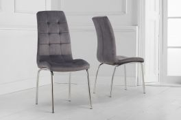 California grey velvet dining chair (pairs)