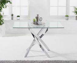 Daytona 120cm Rectangular Glass Dining Table