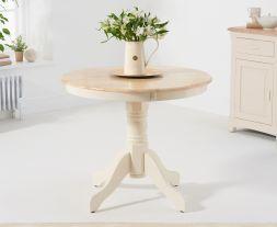 Elstree 90cm Cream/Oak Dining Table