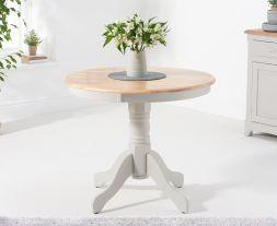 Elstree 90cm Grey/Oak Table