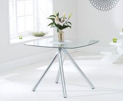 Elba 100cm Glass Dining Table