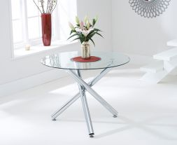 Odessa 100cm Glass Dining Table