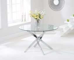 Daytona 110cm Glass Round Dining Table