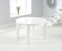 Ava 120cm Round High Gloss Dining Table
