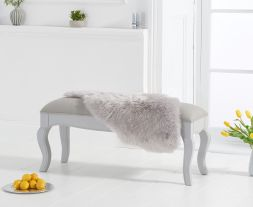 Sienna grey small bench with grey padded seat (to go with the 130cm grey table)