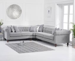 Lauren Medium Grey Linen Sofa