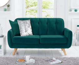Carvella Green Velvet 2 Seater Sofa