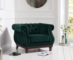 Highgrove Chesterfield Green Velvet ArmChair
