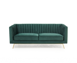 Danielle Green Velvet 2 Seater Sofa