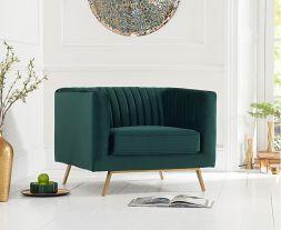 Danielle Green Velvet Armchair