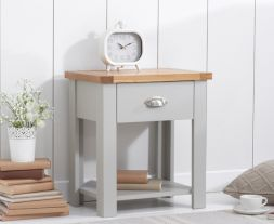 Sandringham Oak And Grey 1 Drawer Nightstand