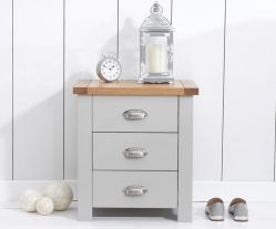 Sandringham Oak And Grey 3 Drawer Nightstand