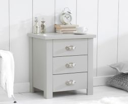 Sandringham Grey 3 Drawer Nightstand