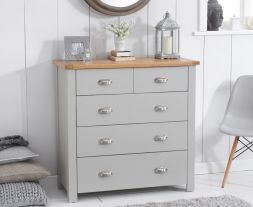 Sandringham Oak And Grey 3 + 2 Drawer Chest