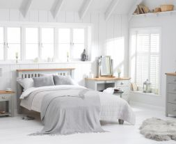 Sandringham Oak And Grey Double Bed Frame