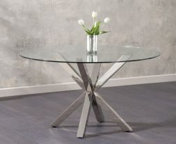 Remus Round Glass Dining Table