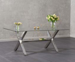 Ricardo 200cm Glass Dining Table