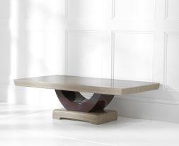 Rivilino Brown Marble Coffee Table