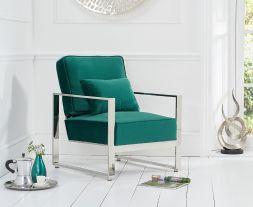 Saffron Green Velvet Accent Chair
