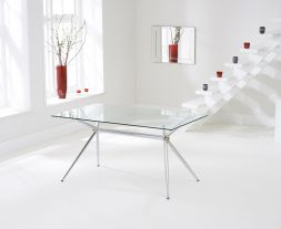Salento 150cm Glass Dining Table