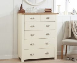 Sandringham Oak And Cream 4 + 2 Drawer Chest