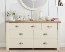 Sandringham Oak And Cream 4 + 3 Drawer Chest