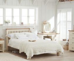 Sandringham Oak And Cream Double Bed Frame