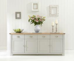 Sandringham 4 Door 4 Drawer Oak & Grey Sideboard