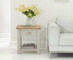 Sandringham Oak & Grey Lamp Table