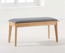 Seth Grey/Oak Cushion Seat Bench